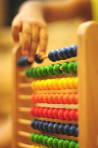 Photograph of an abacus