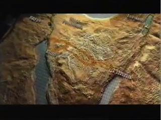 CGI relief map of the Sinai peninsula, from The Exodus Decoded