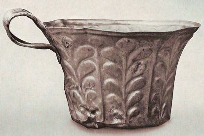 Cup from Grave VI, with floral designs