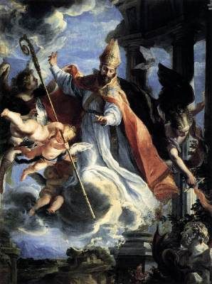 A heroic portrait of St. Augustine
