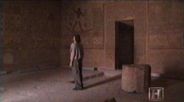 Jacobovici in a tomb at Beni Hasan