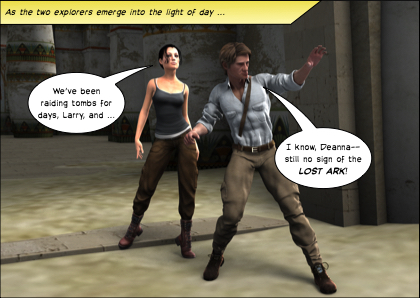 Larry Croft and Deanna Jones can't find the lost ark, no matter how many tombs they raid.